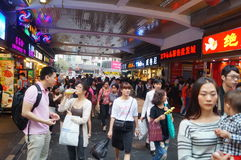 Shenzhen, China: a snack bar Stock Photos