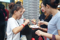 Shenzhen, China: a snack bar Stock Photo