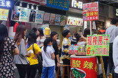 Shenzhen, China: a snack bar Stock Image