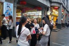 Shenzhen, China: a snack bar Royalty Free Stock Photos