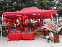 Shenzhen, China: special purchases for the Spring Festival Market Royalty Free Stock Photography