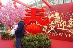 Shenzhen, China: speciale aankopen voor het de Lentefestival Expo Royalty-vrije Stock Afbeeldingen