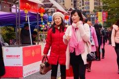 Shenzhen, China: speciale aankopen voor het de Lentefestival Expo Royalty-vrije Stock Foto