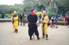 Shenzhen, China: Spielen des Affe-Königs im touristischen Anblick Stockfotografie