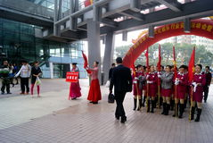 Shenzhen china: a sports meeting and anti-drug activities Royalty Free Stock Images