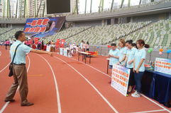 Shenzhen, China: a sports meeting for children and their parents Stock Photography