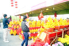 Shenzhen china: spring festival flower markets Stock Photography