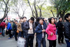 Shenzhen china: the spring festival transportation Royalty Free Stock Images