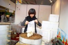 Shenzhen, china: the steamed stuffed bun shop Stock Photo