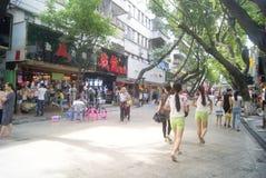 Shenzhen, China: store promotional advertising Royalty Free Stock Images