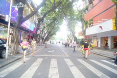 Shenzhen, China: store promotional advertising Royalty Free Stock Photos