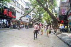 Shenzhen, China: store promotional advertising Stock Images