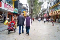 Shenzhen, China: Straßenlandschaft Stockbild