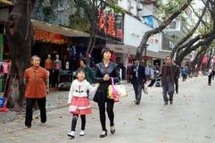 Shenzhen, China: Straßenlandschaft Lizenzfreie Stockfotos