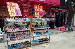 Shenzhen, China: Straßenlandschaft Lizenzfreie Stockfotografie