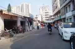 Shenzhen, China: Street alley scenery Stock Photo