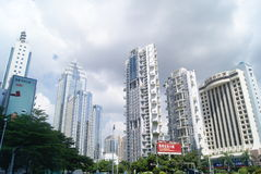 Shenzhen, China: Street and city construction Stock Photos