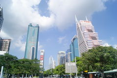 Shenzhen, China: Street and city construction Stock Photography