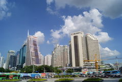 Shenzhen, China: Street and city construction Royalty Free Stock Photo