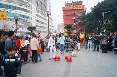 Shenzhen, China: Street concert Royalty Free Stock Image