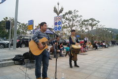 Shenzhen, China: Street concert Stock Photography