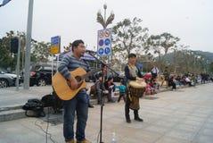 Shenzhen, China: Street concert Stock Photography