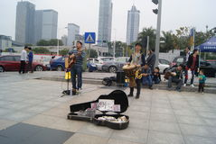 Shenzhen, China: Street concert Stock Photos