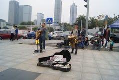 Shenzhen, China: Street concert Stock Photos