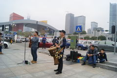 Shenzhen, China: Street concert Stock Photo