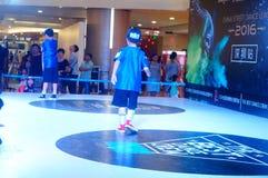 Shenzhen, China: street dance competition Stock Photo