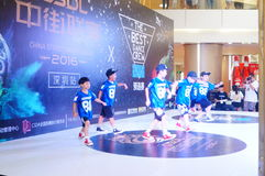 Shenzhen, China: street dance competition Royalty Free Stock Photo