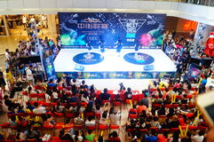 Shenzhen, China: street dance competition Royalty Free Stock Photography