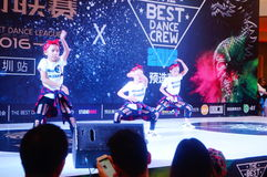 Shenzhen, China: street dance competition Stock Photos