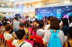 Shenzhen, China: street dance League landscape Royalty Free Stock Photo