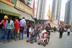Shenzhen, China: street landscape Royalty Free Stock Photos