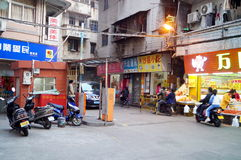 Shenzhen, China: street landscape Royalty Free Stock Photo