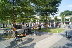 Shenzhen, China: Street Music Concert Royalty Free Stock Photography