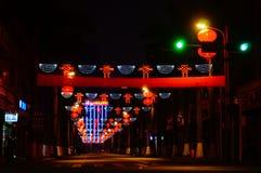 Shenzhen, China: street night Royalty Free Stock Photography