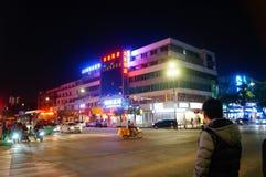 Shenzhen, China: street night landscape Royalty Free Stock Image