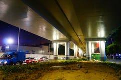 Shenzhen, China: street night landscape Royalty Free Stock Images