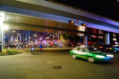 Shenzhen, China: street night landscape Stock Images