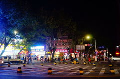 Shenzhen, China: street night landscape Royalty Free Stock Image