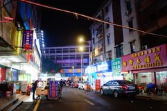 Shenzhen, China: street night landscape Stock Image