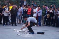 Shenzhen, China: street performances to beg Royalty Free Stock Image