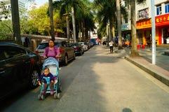 Shenzhen, China: Street scenery Stock Image
