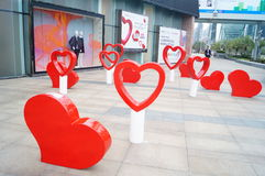 Shenzhen, China: street sculpture landscape Royalty Free Stock Images