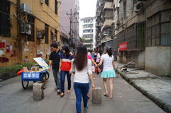 Shenzhen, China: street vendors and snacks Stock Image