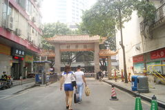 Shenzhen, China: the streets and alleys of landscape architecture Stock Photo