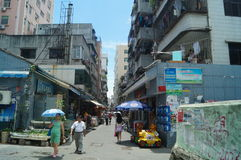 Shenzhen, China: the streets of the ancient city of Nantou landscape Stock Photo