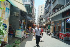 Shenzhen, China: the streets of the ancient city of Nantou landscape Royalty Free Stock Image